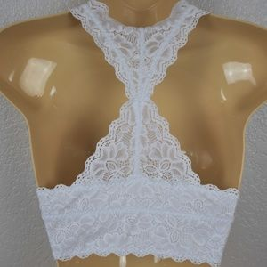 Felina Intimates & Sleepwear - Felina White Lace Racerback Bralette sz L